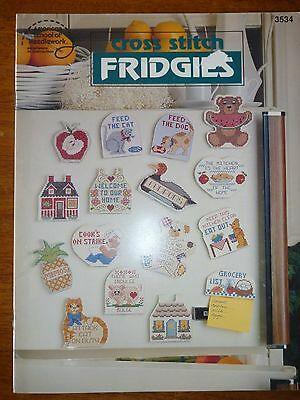 American School Of Needlework Cross Stitch Patterns Booklet 3534-Fridge Magnets