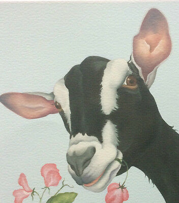 alpine goat painting fine art giclee fine art print picture by Lizzie Hall