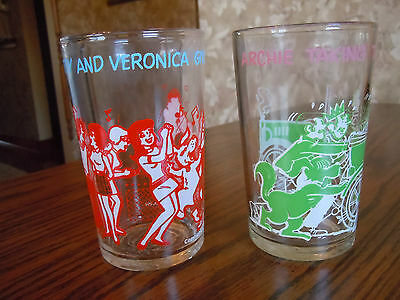 Archie Comics 1971-1973 Jelly Glasses - Betty & Veronica - Archie & The Gang