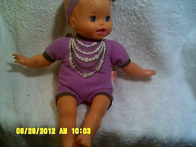"2011 Mattel  Little Mommy 13"" Purple  Baby Doll"