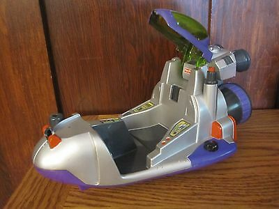 FISHER PRICE RESCUE HEROES SPACE POD EXPLORATION VEHICLE For PARTS or REPAIR