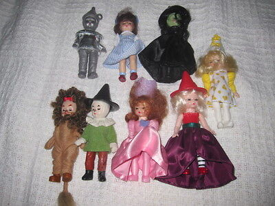 "lot of 8  Madame Alexander 4"" dolls Wizard of OZ"