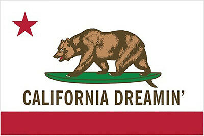 California Dream Bear Vintage Poster Print Wall Art 36x24  49
