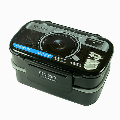 Novelty Camera Pattern Plastic Bento Lunch Box Food Lunch Container Microwave OK