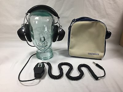 Vintage Columbia Dynamic Stereo Headphones Model HP-30 with Carry Bag
