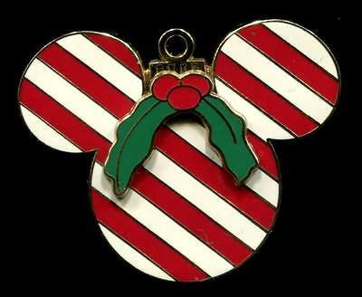 DLR Mickey Mouse Icon Ornament Candy Cane Disney Pin 50244