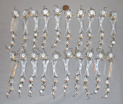 Vintage Rectangle & Octagon Crystal Chandelier Prisms 20 Full Strands -100 total