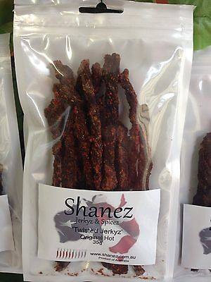 SHANEZ HOT MIX-UP BEEF JERKY~35 gm ~10 Flavors Choice~Au  Made in Australia