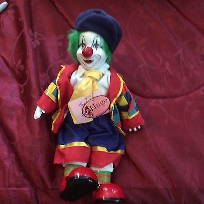 Show Stoppers Hugo Clown. Beautiful Collectable New W Tags. Nursing Student Sell