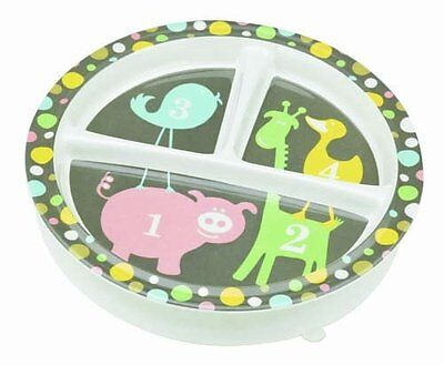 "Sugar Booger ""numbers"" Feeding Collection Divided Suction Plate"