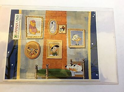 Guyana Winnie The Pooh Souvenir Sheet with Certificate Of Authenticity