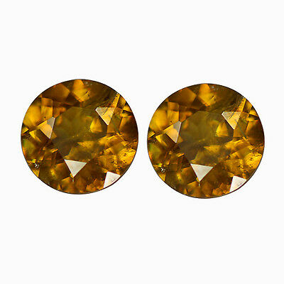 1.62Ct Round Cut 6 x 6 mm 100% Natural AAA Sphene Titanite