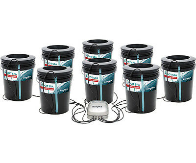 Active Aqua 8 SITE Root Spa 5 Gal Bucket System Hydroponics SAVE $$ W/ BAY HYDRO