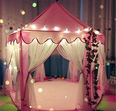 Princess Castle Play Tents Playhouse series with Star Light Warm Soft Blanket