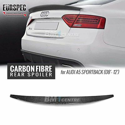 CARBON FIBER S LINE STYLE REAR TRUNK SPOILER WING for AUDI A5 SPORTBACK 08-12