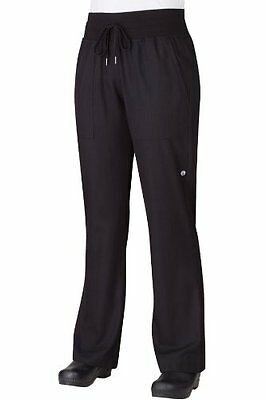 Chef Works Pw004 Women's Comfi Pants, X-small, Black