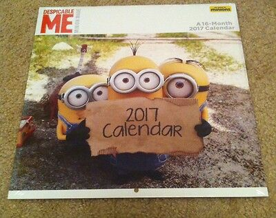 NEW SEALED 2017 Minions Calendar Despicable Me FULL SIZE 12x12 FREE SHIPPING