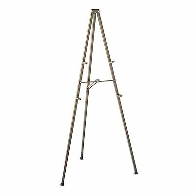 "Quartet 21E Tripod Display Easel  72"" High  Steel  Bronze"