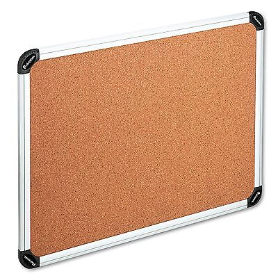 Universal 43714 Cork Board with Aluminum Frame 48 x 36 Natural Silver Frame