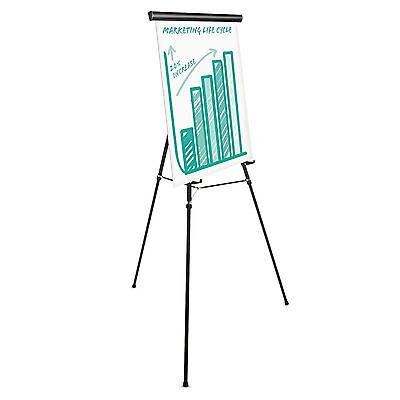 "Universal 43034 Heavy Duty Presentation Easel  69"" Maximum Height  Metal  Black"