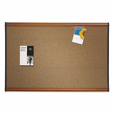 Quartet B244LC Prestige Bulletin Board  Brown Graphite-Blend Surface  48 x 36