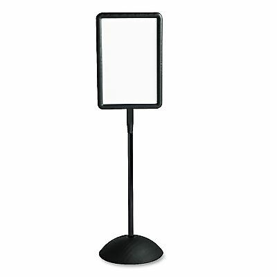 Safco 4117BL Double Sided Sign  Magnetic/Dry Erase Steel  18 x 18  White  Black