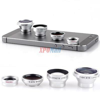 Universal For iPhone Tablet Samsung Cellphone 4 in 1 Magnetic Camera Lens Kits
