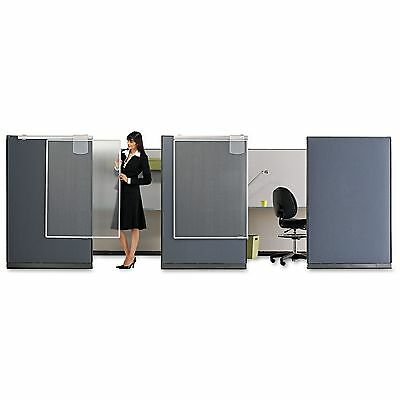 Quartet WPS1000 Workstation Privacy Screen  36w x 48d  Translucent Clear/Silver
