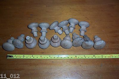 Vintage job lot small wooden drawer or cupboard knobs handles used see details