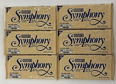 909639 6 x 120g BARS OF HERSHEY'S SYMPHONY CHOCOLATE - ALMONDS & TOFFEE CHIPS