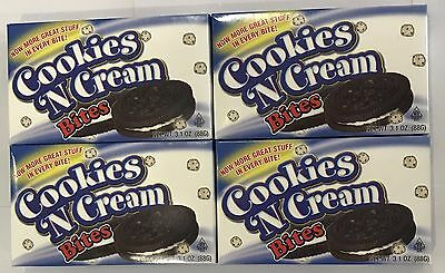 902014 4 x 88g BOXES OF COOKIES AND CREAM BITES - MADE IN THE U.S.A.!