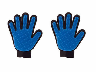 2PCS True Touch Glove Deshedding for Gentle and Efficient Pet Grooming