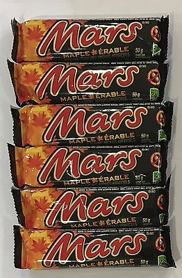 910492 6 x 50g BARS OF MARS MAPLE CHOCOLATE - CANDY BARS - CANADA
