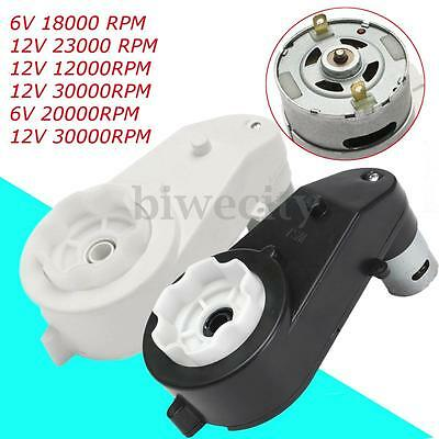 12000-30000 RPM 6V/12V Electric Motor Gear Box For Kids Ride On Bike Car Toy New