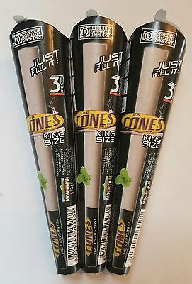 SMOKING PRE ROLLED CONES lot of 3x3  king size with filter tips brand new