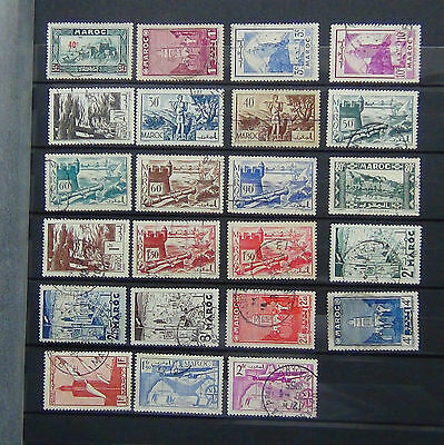 French Morocco 1939 values to 4F VFU
