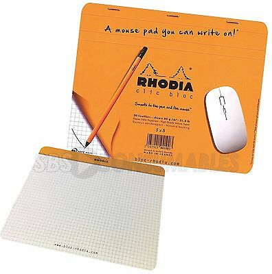 Rhodia - Writable Mouse Pad. A mousemat you can write on! 30 sheets. 5x5 Squares