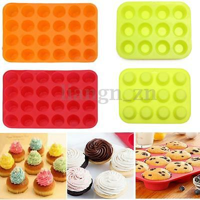 24 Rayons silicone gâteau moule muffin pâtisserie bonbon biscuit cuisine outil