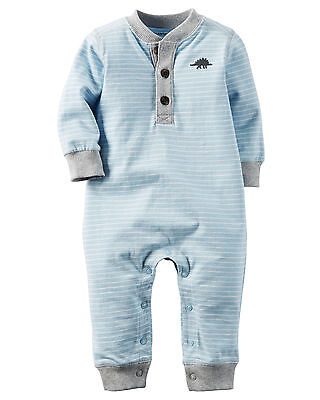 Carters 3 6 9 12 18 24 Months Dino Jersey Jumpsuit Coveralls Baby Boy Clothing