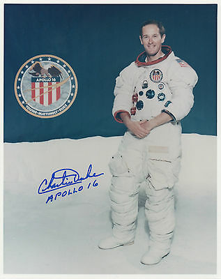 APOLLO 16 ASTRONAUT - CHARLIE DUKE personally signed 10x8 - MOON WALKER