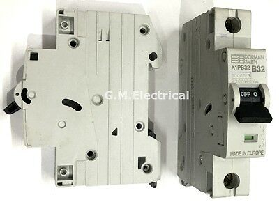 Dorman Smith 32 Amp Type B 32A Single Pole / Phase Mcb Circuit Breaker X1Pb32