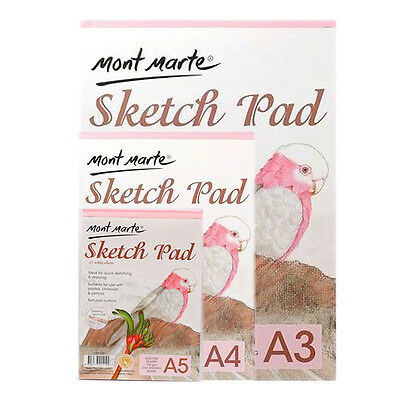 1pce Mont Marte Sketch Pad 150gsm 25 Sheets, Sketching Paper, A3 A4 A5