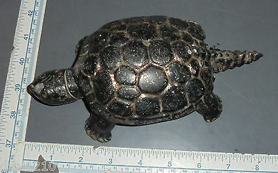Brookville Pa Glove Company Turtle Flip Ashtray Desktop Paperweight Candy Dish