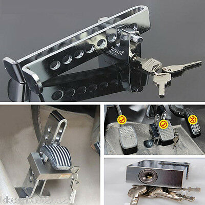Car Anti-Theft Device StainlessSteel Clutch Lock Brake Strong Security Lock Tool