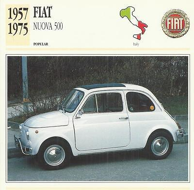 FIAT NUOVA 500 1957 - 1975 original 2-sided Edito collector's trading card