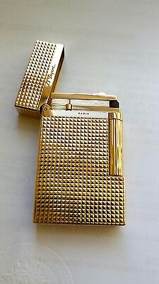 S.T. Dupont Ligne 2 diamond head yellow gold plated