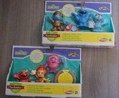 Sesame Street The Furchester Hotel Pack Of 4 Figures Brand New Ages 18 Months+