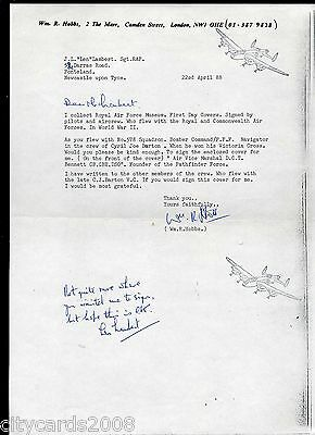 1988 Letter added signed  comment by Len Lambert 578 Sqn Bomber Command WW2 POW
