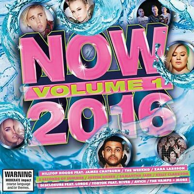Now 2016 Volume 1 Various Artists Cd New