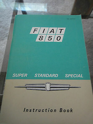 1970 Fiat 850 Sedan 140 Owners Manual - PRISTINE- NOS -With Supplement